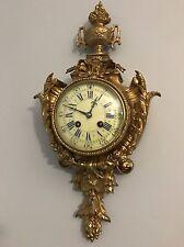 French Antique Ormolu Gilt Bronze Cartel Clock by A.D. Mougin Circa 1870 H18,5''
