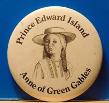 Anne Green Gables by Lucy Maud Montgomery PEI Canada BUTTON PINBACK PIN