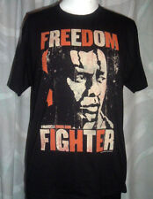 FREEDOM FIGHTER NELSON MANDELLA MENS SIZE L ~ BLACK ~ PROMOTIONAL MOVIE T-SHIRT
