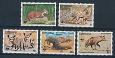 [64082] Botswana 1977 Wild Life - Cerval, Hyena, Fox, Pangolin, WWF  MLH