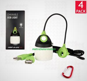 MINI LIGHT-A-LIFE LED CHAINABLE USB STRING LAMP 200 LUMENS LANTERN OR AREA LIGHT