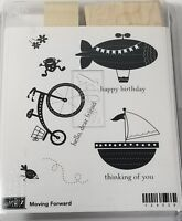 Stampin Up Moving Forward Birthday Sympathy Wood Rubber Stamp Set 7 Piece New