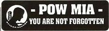 Motorcycle Sticker for Helmets or toolbox #524 POW MIA you are not forgotten