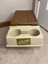 Vintage 1985 Igloo Little Kool Rest Car Cooler Butterscotch Console Car Chest