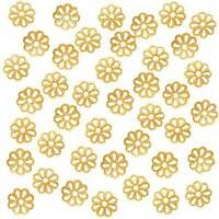 Fashion DIY Jewelry Findings 700/ 500pcs Gold Plated Flower Bead Caps 6mm7mm Hot