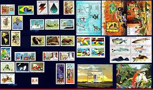 BRAZIL 1988 ALL STAMPS ISSUED, FULL YEAR, 43V, SCOTT 2125-60 SV $52.00, ALL MNH