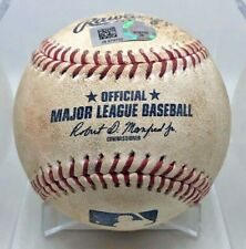 GEORGE SPRINGER HIT-BY-PITCH GAME-USED BASEBALL 2017 ASTROS WORLD SERIES MVP
