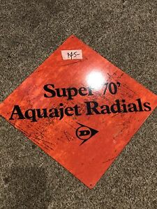 Dunlop Aquajet Ex Shop Display Repro Metal Sign