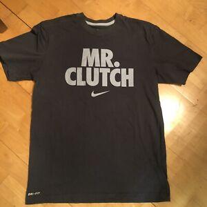 Nike Dri-Fit Swoosh Mr. Clutch Grey Shirt Size Mens Medium
