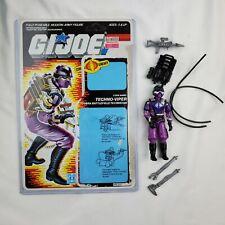 GI Joe 1987 Cobra Techno Viper Action Figure Accessories & File Card