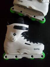 Usd White Sway whites Inline Skates aggressive size 10.0-10.5 Us