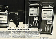 PUBLICITE ADVERTISING 045  1979  PIONEER hi-fi  chaine X55  X77  X99 ( 2 pages)