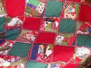Christmas Rag Quilt ~ Christmas Crazy Patch Charm ~