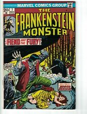 the Frankenstein Monster #7 VG+ marvel comics 1973 - john buscema - dracula