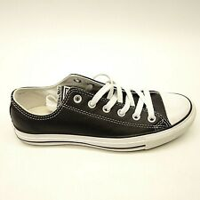673c80f194f3d New Converse Womens Chuck Taylor All Star Low Top Black Leather Shoes Size 8