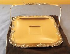 Continental Silver Co.Silverplated Footed Sq.Tray2940 18%Nickel Silver w/Handle