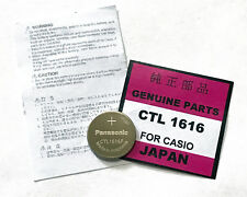Casio Panasonic Capacitor solar Battery rechargeable Lithium CTL1616 CTL1616F