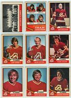 1974-75 OPC Altanta Flames 21 Card Team Set F to VG  (02-03202020)