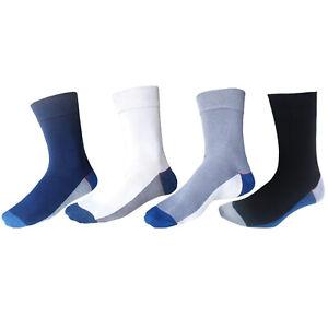 Mens socks with soft top and flat toe seams man's anti-bacterial bamboo socks