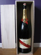 G H MUMM BRUT SIZE 9L SALMANZAR EMPTY BOTTLE ORIGINAL BOX & CORK FREE SHIPPING