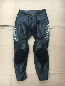 "ARLEN NESS Mens Leather Motorcycle Motorbike Trousers Size UK 28"" waist No2"
