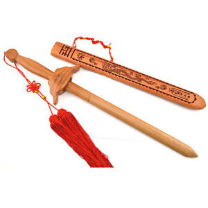 Kung Fu Tai Chi Peach Wood Sword Practice Performance Decoration Collection