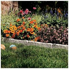Suncast Resin Faux Stone Border Edging Lawn Landscape Garden Flower Bed Decor
