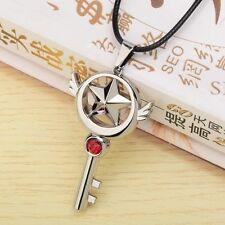 Anime CARDCAPTOR SAKURA Pendant Necklace w Star Pattern Key  Cosplay Accessory