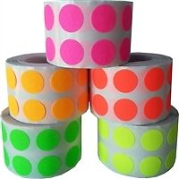 "1/2"" Fluorescent Colored Dot Stickers Collection"