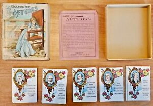 Antique c1900 - GAME OF AUTHORS - J. OTTMANN LITHOGRAPH CO. - COMPLETE - NICE!