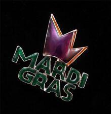 Mardi Gras Crown Purple Green Fashion Pin