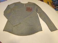Men's Volcom stone surf skate brand long sleeve shirt small S gray heather NWT