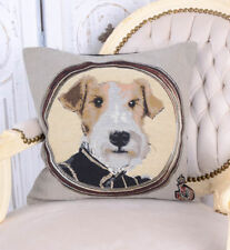 Decorative Pillow Terrier Cushion Cover Gobelin Tapestry Country Style Dog