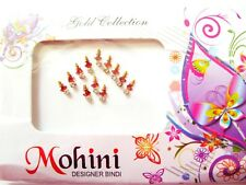Pack of 12 Beautifully Styled Bindis in Maroon with Crystals (061)