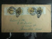 1914 Nogales Mexico Cover To Somerville Ma USA Rare Imperforate Stamps