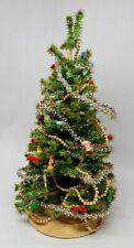Vintage Large Christmas Tree w Decorations & Ornaments Dollhouse Miniature 1:12