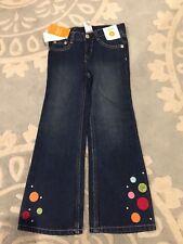 NEW Gymboree Cozy Cutie Polka Dot Boot Cut Jeans Dark Wash 5