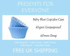 100 x Baby Blue Cupcake / Muffin Cases