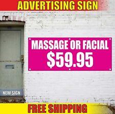 Massage Banner Advertising Vinyl Sign Flag body foot spa salon relax Facial open