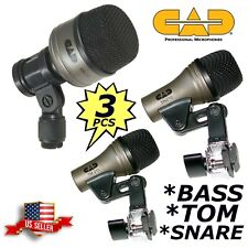 Wired Dynamic Drum Mic Kit - Kick Bass Tom Snare Microphone Set For Drums CAD