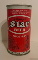 Vintage Dubuque Star Beer Can Pull Tab Breweriana Empty 12 oz Collectible