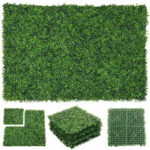"""12pcs 20x20"""" Artificial Boxwood Mat Wall Hedge Decor Grass Privacy Fence Panel"""