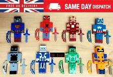 24PCS Minecraft Figures MARVEL Action SUPER HERO AVENGERS BATMAN HULK SPIDERMAN