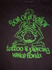 Son Of A Sailor Tattoo & Piercing T Shirt Small Venice FL Classic Aloha Monkey