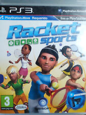 RACKET SPORTS. JUEGO PARA PS3. REQUIERE MOVE. USADO, ESTADO ACEPTABLE. PAL-ESP.