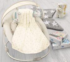 Soft plush fleece pram/moses basket/crib baby blanket - Cream