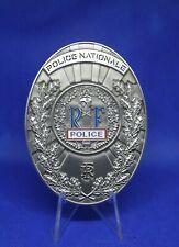 Plaque Police nationale vintage plaque de ceinture, neuf, Police CRS medaille gd