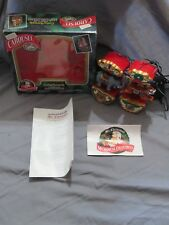 """Mr. Christmas Carousel Ornaments 2 """"Circus Animals"""" Animated/Moving/Lighted 1993"""