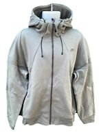 NEW NIKE Sportswear NSW Cotton Hoodie Jacket Full Zip Light Olive Green L