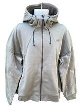 NEW NIKE Sportswear NSW Cotton Hoodie Jacket Full Zip Light Olive Green L